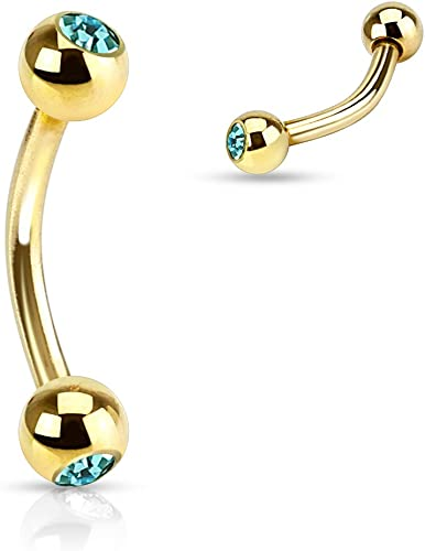 Freedom Fashion Gold Plated Over 316L Surgical Steel Hinged Segment Ring Sold by Piece