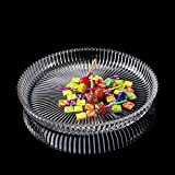 modern fashion glass fruit dish large tray coffee table Home Decoration Candy plate Living room Decoration