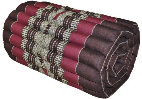 Thai mattress small size (55/180), brown/burgundy, relaxation, beach cushion, pool, meditation, yoga (82513) by Wilai GmbH