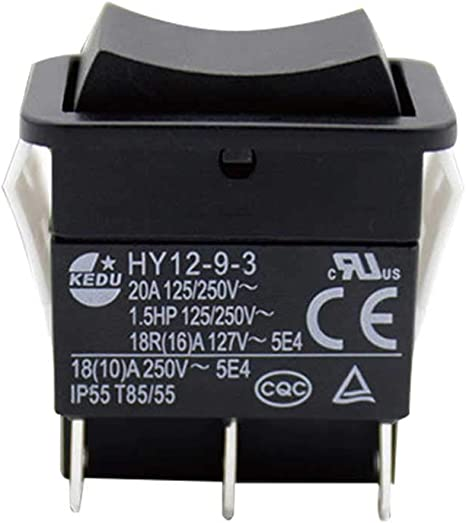 ABS Push Button for Cars Boats DONEMORE7 HY12-9-3 on//off Switch Industrial Electric Rocker Switch Easy Install