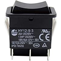 gshhd0 Industriële tuimelschakelaar,HY12-9-3 op off elektrische boog enkele pool ABS duurzame kleine veilige…