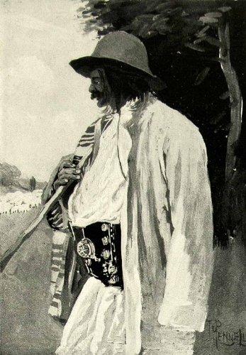 1895 Print Joseph Pennell Art Gipsy Shepherd Gypsy Man Costume Portrait Painting - Original Halftone