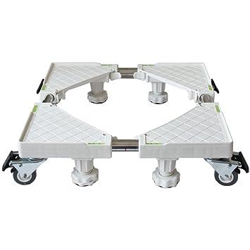 Base Multifuncional Ajustable Base Lavadora Base Ajustable Móvil Multifuncional Con Ruedas Giratorias De Goma De 4