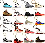 (#AJ 20Pack) Basketball Sneakers Keychain Ringkey Collection Value Pack