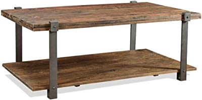 Riverside Furniture Rectangle Cocktail Table in Patina and Black