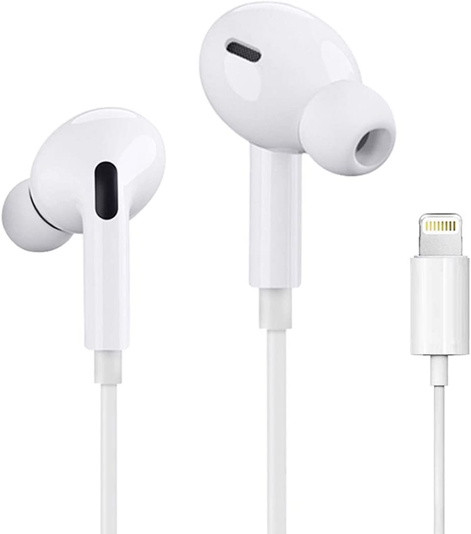 iPhone Lightning Headphone[Apple MFi Certified]Apple Earbuds with Lightning Connector(Built-in Microphone & Volume Control&Support Call)All iOS System