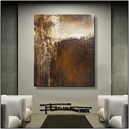 ELOISE WORLD STUDIO - ELOISExxx Abstract Canvas Painting Limited Edition Giclee Textured Wall Art Framed 36in. x 30in. x 1.5in. Oil Painting