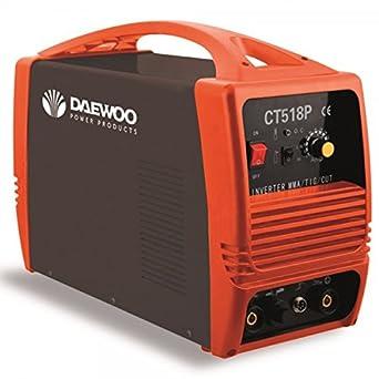 Daewoo 0005878 Soldadora Inverter PLASMA/TIG/MMA, Tres Funciones, 370 mm x