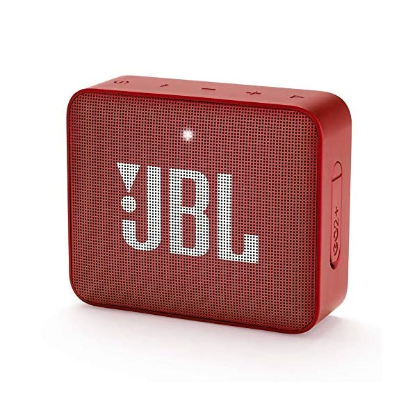 JBL GO2 Plus by Harman Portable Bluetooth Speaker with Mic (Red) 2021 June Wireless Bluetooth Streaming 5 hours of playtime Waterproof design