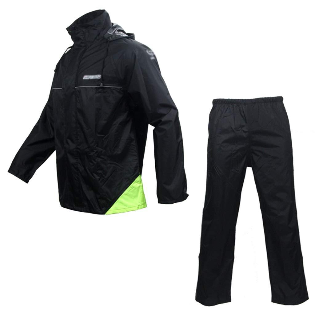X-grand DXJNI Manteau imperméable à Capuche imperméable pour Hommes et Femmes