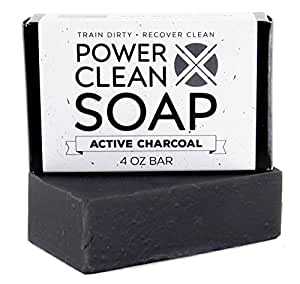 Active Charcoal 4oz Bar | With Activated Charcoal, Dead Sea Clay for Natural Face and Body Detox | Enriched with Essential Oils of Cedarwood, Scotch Pine and Fir Needle | Paraben and SLS Free
