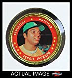 1971 Topps Coins # 108 Reggie Jackson Oakland Athletics (Baseball Card) Dean's Cards 4 - VG/EX Athletics