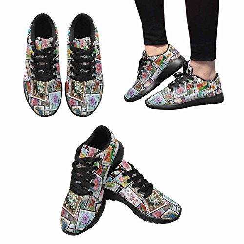 InterestPrint Womens Trail Running Shoes Jogging Lightweight Sports Walking Athletic Sneakers Different Brands With Pictures Of Flowers Multi 1 EgYORuPn