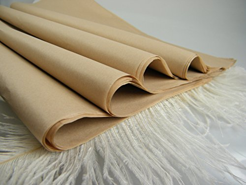 ABC Premium Quality Solid Kraft Tissue Paper, Large 20 x 30, Brown - 480 Sheets by Abc Check Printing
