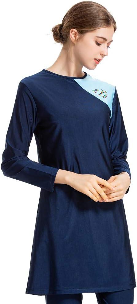 WOWDECOR Muslimischen Badeanzug Hijab Abnehmbaren Muslim Islamischen Bescheidene Badebekleidung Modest Swimwear Burkini f/ür muslimische Frauen