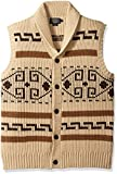 Pendleton Men's Westerley Sweater Vest, Tan/Brown-61161, XS