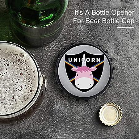 Unicornio arco iris escudo abrebotellas, imán trasero adhesivo para nevera, forma creativa de tapa de botella, fácil de abrir el esfuerzo de botella.