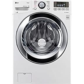 LG White Front Load Steam Washer