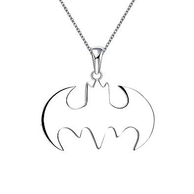 Amazon Icystore Superhero Batman Symbol Silver Necklace Best