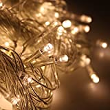 Window Curtain Lights, Upgraded 304 Warm White LEDS String Fairy Starry Twinkle Stars Lights 9.8ft x 9.8ft with 8 Modes for Wedding Party Home Patio Lawn Garden Bedroom Outdoor Indoor Wall Lights