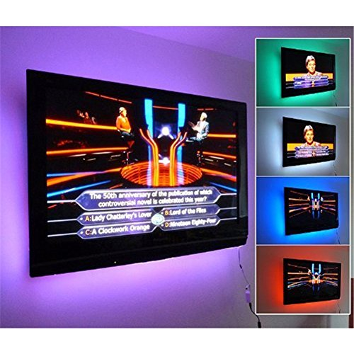 LED Strip Lights, USB TV Backlight Kit RGB Bias Lighting with Remote(78inch/2m), Ambient Home Theater Light, Accent Lighting to Reduce Eye Strain and Increase Image Clarity by Searik (Image #7)