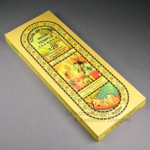 1 X Song of India - India Temple Incense, 120 Stick Pack, (IN9) - Incense Sticks Temple