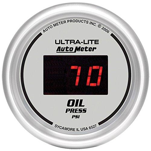 """Auto Meter 6527 Ultra-Lite Digital 2-1/16"""" 0-100 PSI Digital Oil Pressure Gauge"""