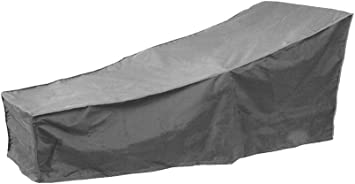 UV-Resist decwang Veranda Patio Chaise Lounge Cover 210D Outdoor Furniture Cover with Elastic Hem Cord and Storage Bag Waterproof for Dust-Proof