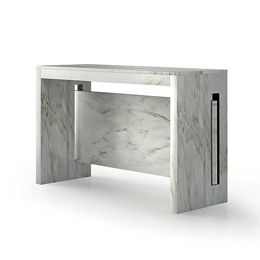 Terraneo Mesa Consola Extensible Salvaspazio de MFD Efecto mármol ...
