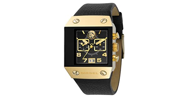 Amazon.com: Diesel DZ9034 Black Label Mens Gold Plated Chrono Watch: Watches