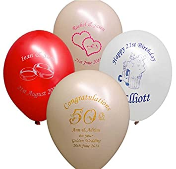 PSL Digital 25 X Personalised Printed Party Balloons