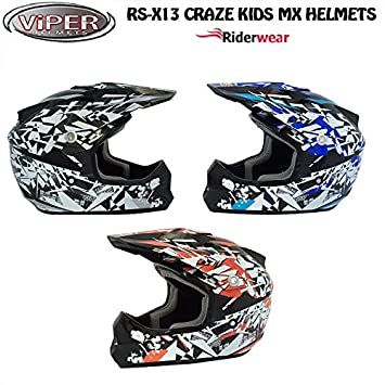 New Kids Motocross casco RS X13 Craze Junior motocicleta Quad ATV ACU ECE Aprobado on y