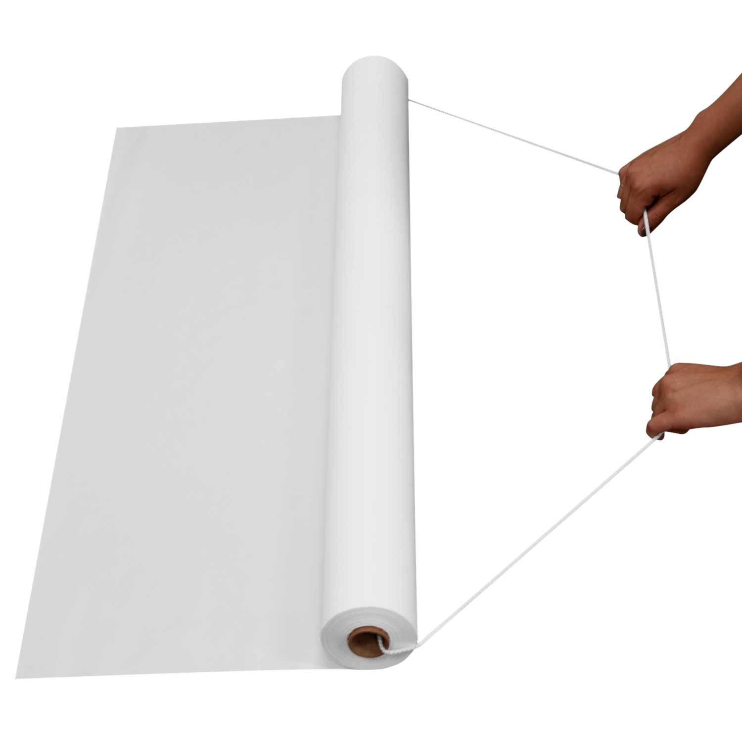 Party Essentials AR150 Plastic Aisle Runners, 150-Feet Length by 36-Inch Width, White (Case of 6) by Party Essentials (Image #2)