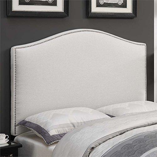 Pulaski Camel Back Upholstered Headboard, Linen, - King Headboard White Upholstered