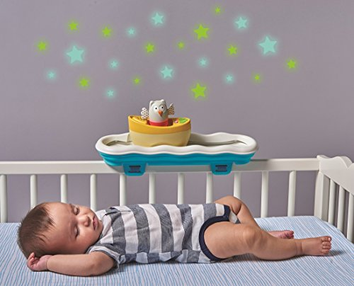 Taf Toys 4 in 1 Musical Boat Crib Toy and Soother with Stars