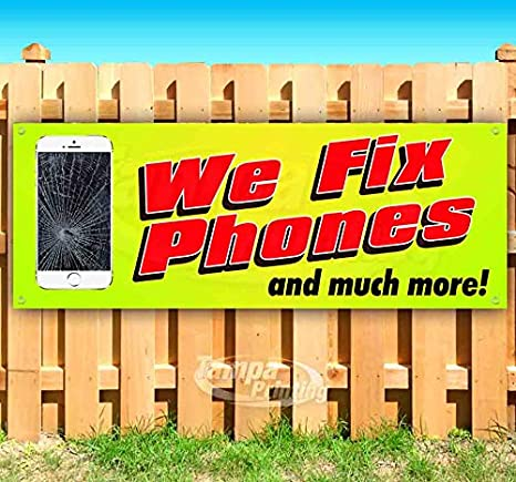 WE FIX PHONES Advertising Vinyl Banner Flag Sign Many Sizes