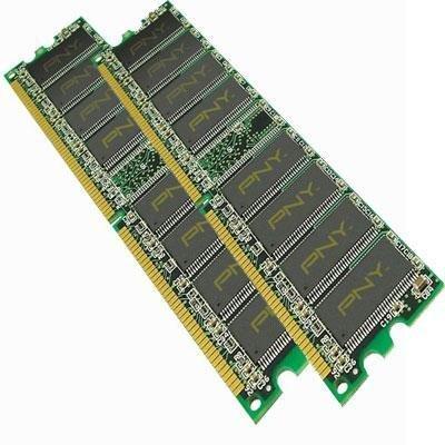 (Pny Technologies Pny Optima Memory - 2 Gb : 2 X 1 Gb - Dimm 184-pin - Ddr (md2048kd1-400) -)