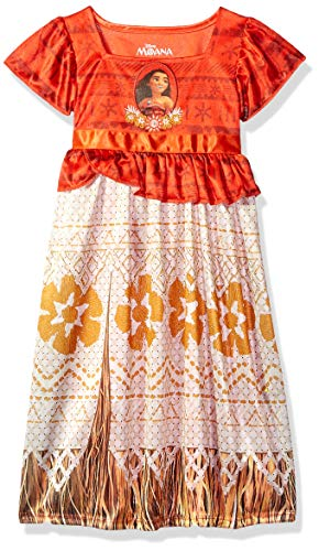 Disney Girls' Toddler Moana Fantasy Nightgown, Island Princess, 3T -