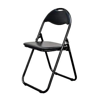 WYYY silla de Oficina Silla Taburete Plegable Negro ...