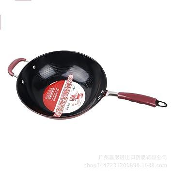 irugh Cerámica antiadherente olla sartén fumar gas horno inducción cocina General pan: Amazon.es: Hogar