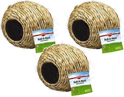 Super Pet Guinea Pig Grassy Roll-a-Nest Hideout (3 Pack)