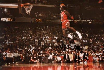 Amazon.com  Michael Jordan Famous Foul Line Dunk Vintage Sports ... e732fcc0f