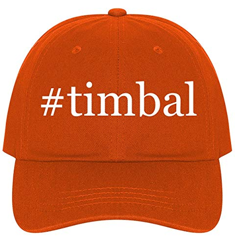 The Town Butler #Timbal - A Nice Comfortable Adjustable Hashtag Dad Hat Cap, Orange