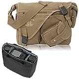 D-SLR Umhängetasche ELEPHANT Canvas Fototasche MALAWI für Spiegelreflex Kameras oder Videokamera OLIVE Grün Army
