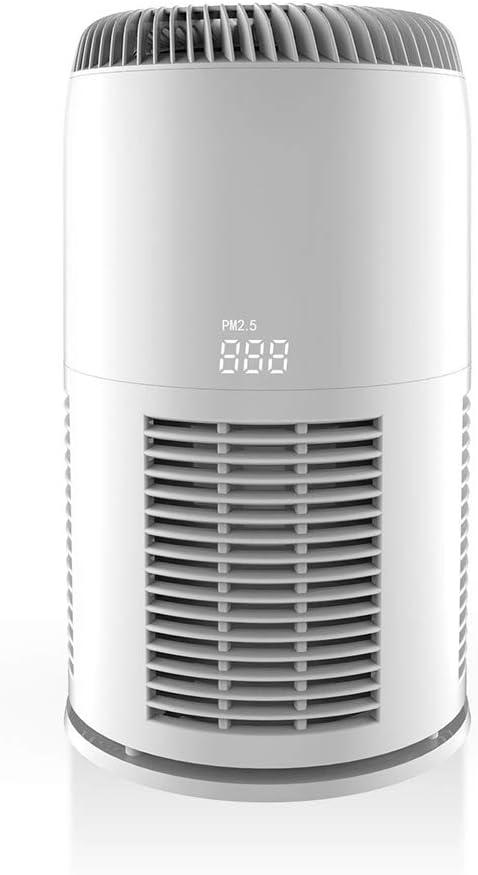 JINRU Purificador de Aire con Filtro HEPA Verdadero, Filtro de Aire con On/Off Timer, Bloqueo para niños para el hogar, Dormitorio, Oficina: Amazon.es: Hogar