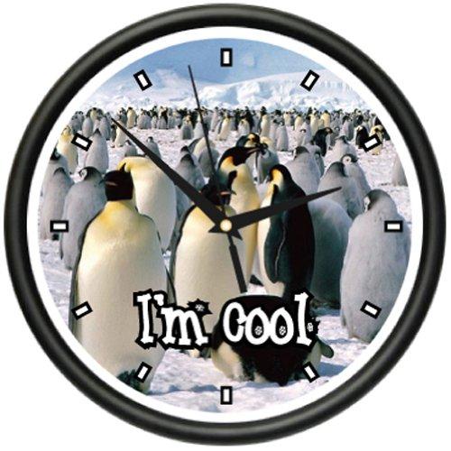 PENGUIN Wall Clock emperor penguins animal decor gift Penguin Wall Clock