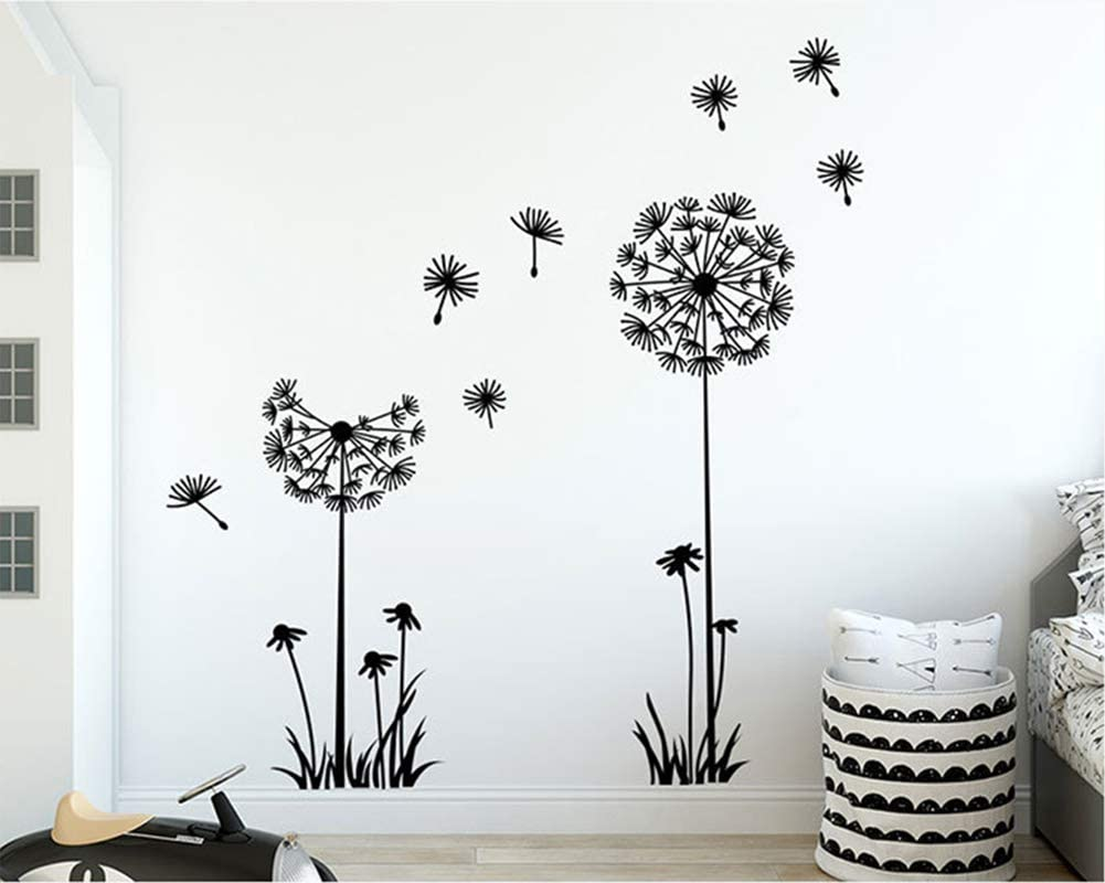 nature flower plant Dandelion decor gift,Wall decor,Wall Decal,Window Sticker,Vinyl sticker Handmade 2218