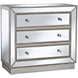 Coast to Coast Trevi Mirrored Silver 32 Wide 3-Drawer Accent Chest
