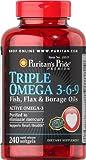 flaxseed oil omega 3 6 9 - Puritan's Pride Triple Omega 3-6-9 Fish, Flax & Borage Oils-240 Softgels