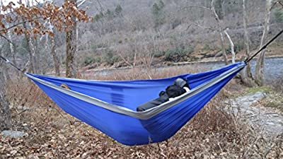Camping Hammock Double from OxStraps - Offers Portable Easy Setup, Designed to Comfortably Support Two People, Includes a Parachute Hammock + Carry Pouch, Lie Back and Enjoy the Breeze!